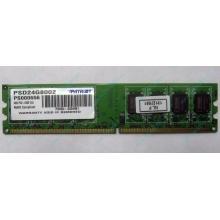 Модуль оперативной памяти 4Gb DDR2 Patriot PSD24G8002 pc-6400 (800MHz)  (Псков)